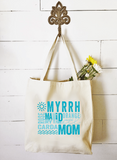 Market Tote - Myrrh Maid Mom Essential Oil Style young living tshirts funny oil shirts popular oil shirts doterra tshirts convention shirts