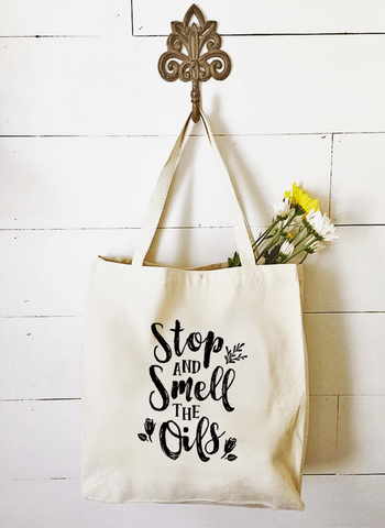 Market Tote - Stop and Smell the Oils