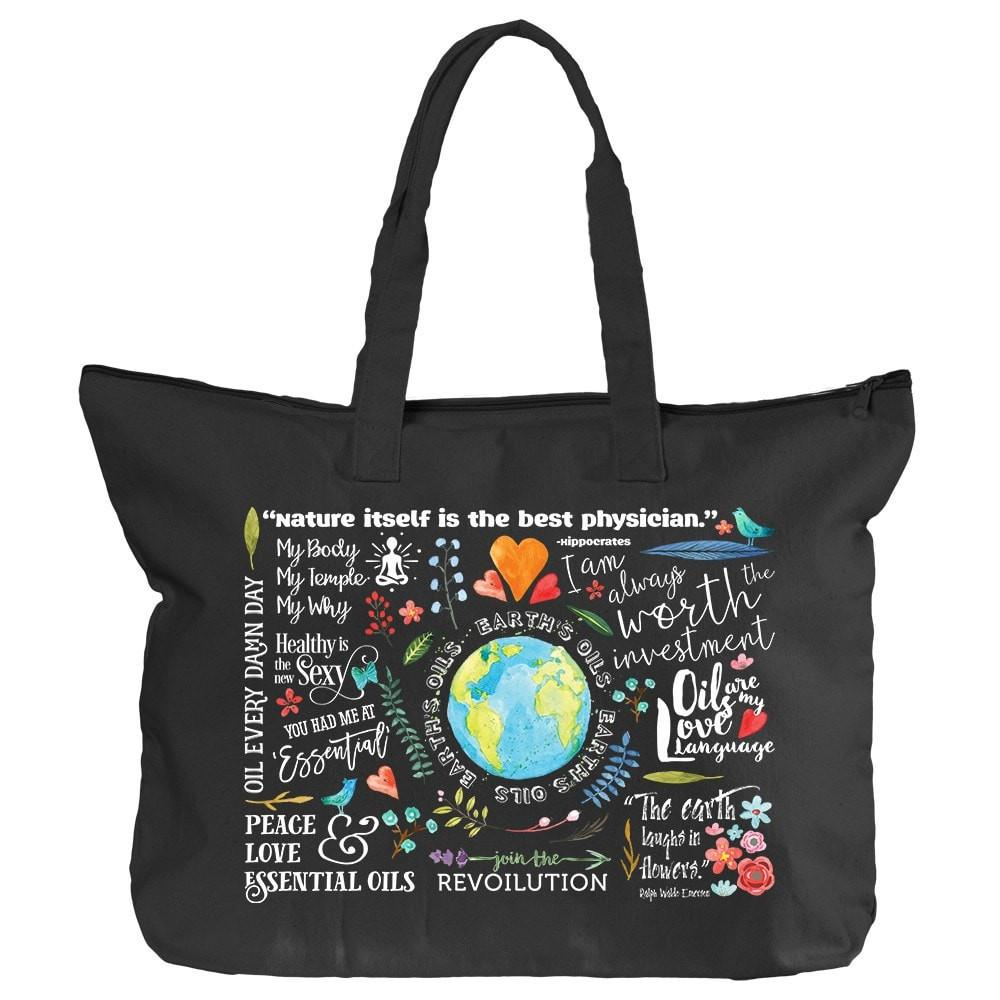 Zippered Tote - The Oil Lifestyle Essential Oil Style young living tshirts funny oil shirts popular oil shirts doterra tshirts convention shirts