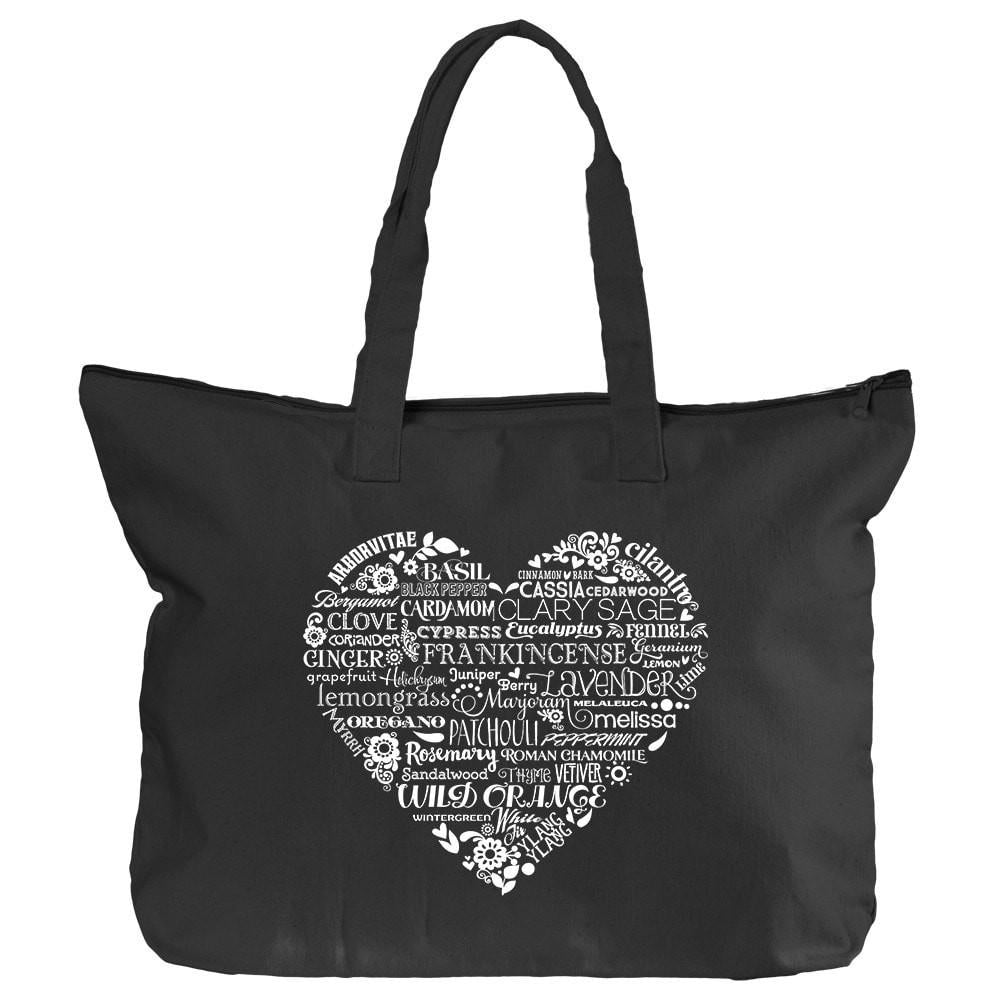 Zippered Tote - Whimsical Heart Essential Oil Style young living tshirts funny oil shirts popular oil shirts doterra tshirts convention shirts