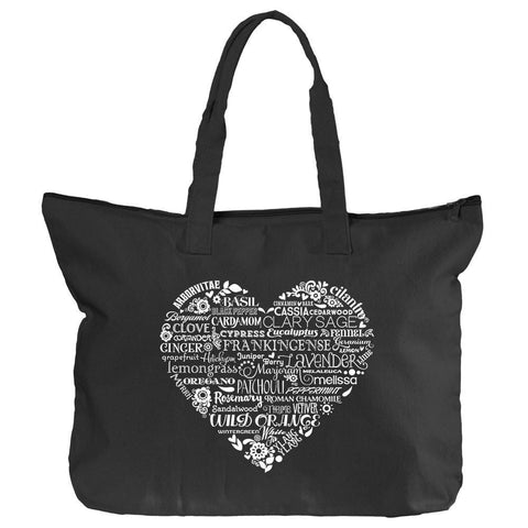 Zippered Tote - Whimsical Heart