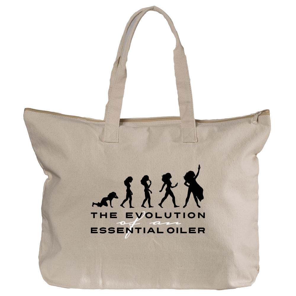 Zippered Tote - Evolution Essential Oil Style young living tshirts funny oil shirts popular oil shirts doterra tshirts convention shirts