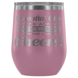 12oz. Stemless Wine Tumblers - No Warning Labels Essential Oil Style young living tshirts funny oil shirts popular oil shirts doterra tshirts convention shirts
