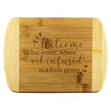 Bamboo Wood Cutting Board - Welcome to our home, where 'oil infused' is a food group. LARGE & SMALL
