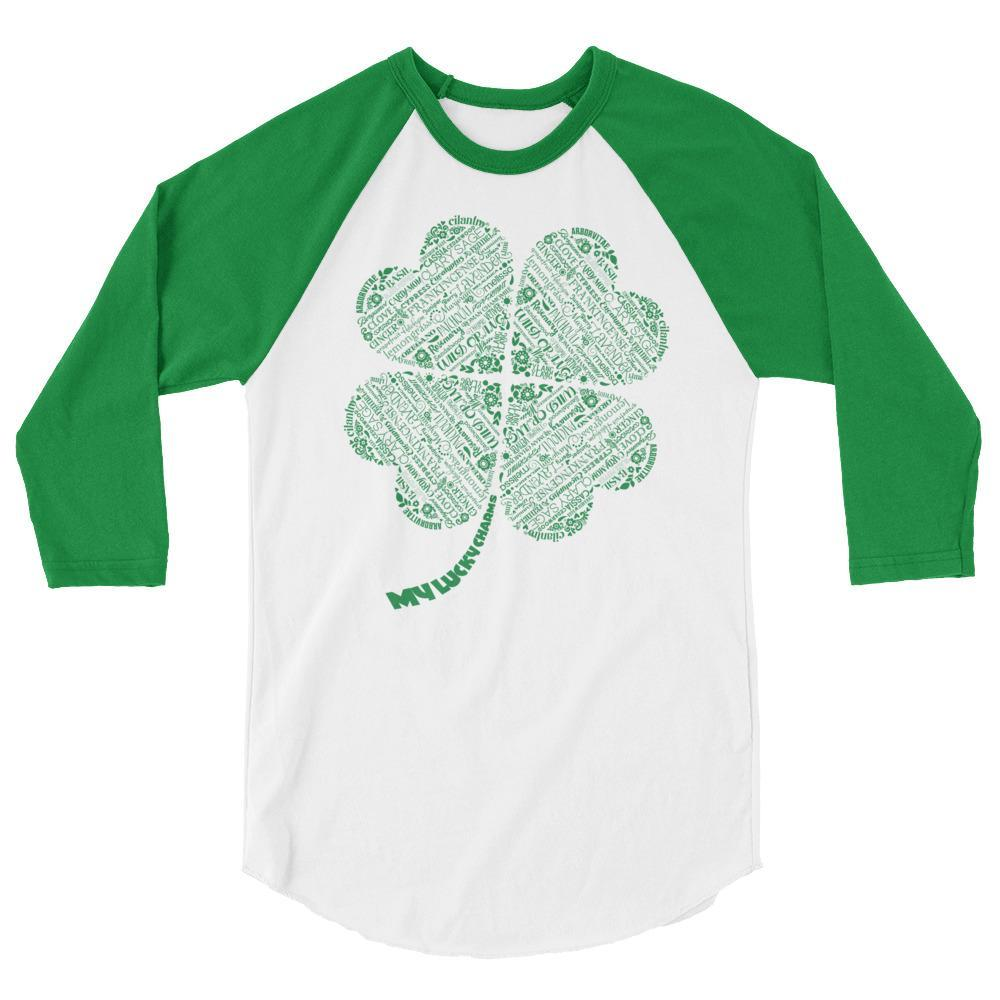 My Lucky Charms (St. Patricks) - 3/4 sleeve UNISEX Baseball Raglan Essential Oil Style young living tshirts funny oil shirts popular oil shirts doterra tshirts convention shirts