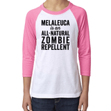 YOUTH Baseball Raglan - ZOMBIE Essential Oil Style young living tshirts funny oil shirts popular oil shirts doterra tshirts convention shirts
