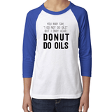 YOUTH Baseball Raglan - DONUT Essential Oil Style young living tshirts funny oil shirts popular oil shirts doterra tshirts convention shirts