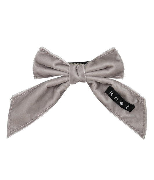 Barre Bow Clip // GREY - KNOT Hairbands