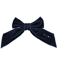 Load image into Gallery viewer, Barre Bow Clip // NAVY - KNOT Hairbands
