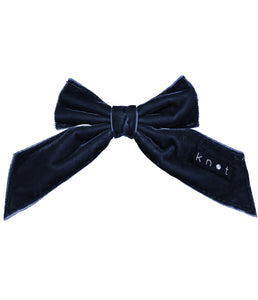 Barre Bow Clip // NAVY - KNOT Hairbands