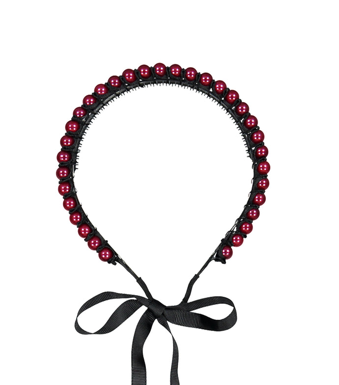 BOURREE BEADED HEADBAND // BERRY - KNOT Hairbands