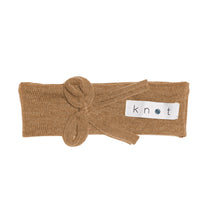 Load image into Gallery viewer, Bébé Bow Headwrap // Almond KNIT - KNOT Hairbands