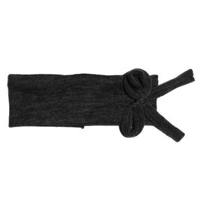 Bébé Bow Headwrap // Black KNIT - KNOT Hairbands