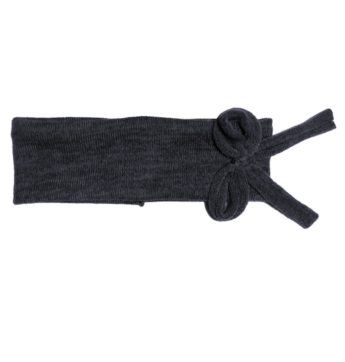 Bébé Bow Headwrap // Navy KNIT - KNOT Hairbands