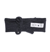 Load image into Gallery viewer, Bébé Bow Headwrap // Navy KNIT - KNOT Hairbands