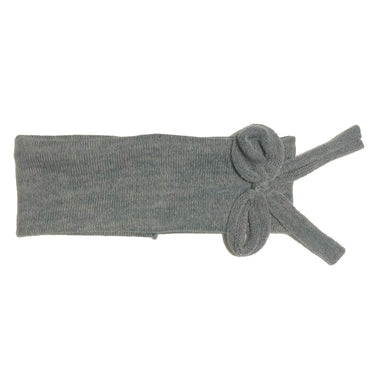 Bébé Bow Headwrap // Slate KNIT - KNOT Hairbands
