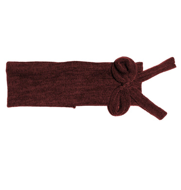 Bébé Bow Headwrap // Wine KNIT - KNOT Hairbands