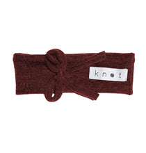 Load image into Gallery viewer, Bébé Bow Headwrap // Wine KNIT - KNOT Hairbands