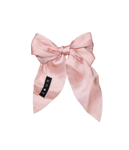 CREPE BOW Clip // Blush - KNOT Hairbands