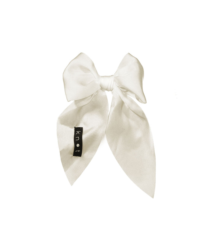 CREPE BOW Clip // Vanilla - KNOT Hairbands