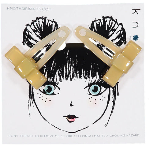 CLASSIC BOW CLIP SET - KNOT Hairbands