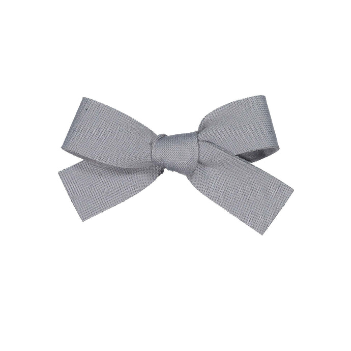 COZY BOW CLIP // Slate // MINI - KNOT Hairbands