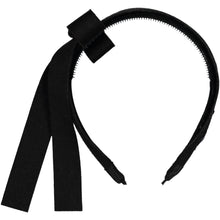 Load image into Gallery viewer, COZY BOW HEADBAND // Onyx Black - KNOT Hairbands