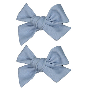 DENIM HUE MINI CLIP SET - KNOT Hairbands