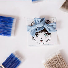 Load image into Gallery viewer, DENIM HUE MINI CLIP SET - KNOT Hairbands