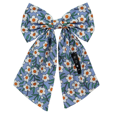 FLORAL BOW CLIP - KNOT Hairbands