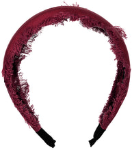 Load image into Gallery viewer, Fouetté Fringe Headband // BURGUNDY - KNOT Hairbands