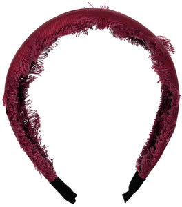 Fouetté Fringe Headband // BURGUNDY - KNOT Hairbands