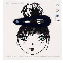 Load image into Gallery viewer, GLOSS SNAP CLIP // Midnight Navy - KNOT Hairbands