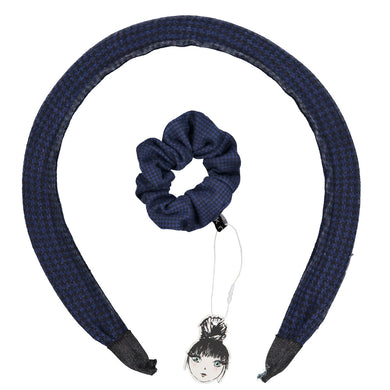 HERRINGBONE HEADBAND + SCRUNCHIE SET - KNOT Hairbands