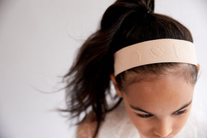 PLAY BAND // STAMPED // CRÈME - KNOT Hairbands