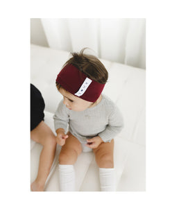 KNOT Classic Headwrap // Burgundy - KNOT Hairbands