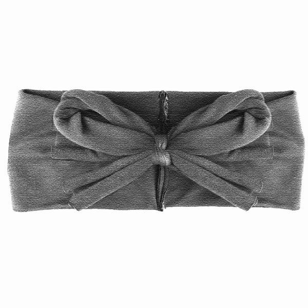 Loop Bow Headwrap // Heather Grey