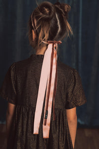 SILK + VELVET RIBBON HEADBAND // Puff Pink - KNOT Hairbands