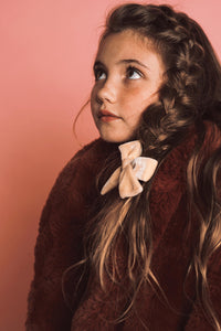 VELVET BOW CLIP // Blush Glow - KNOT Hairbands
