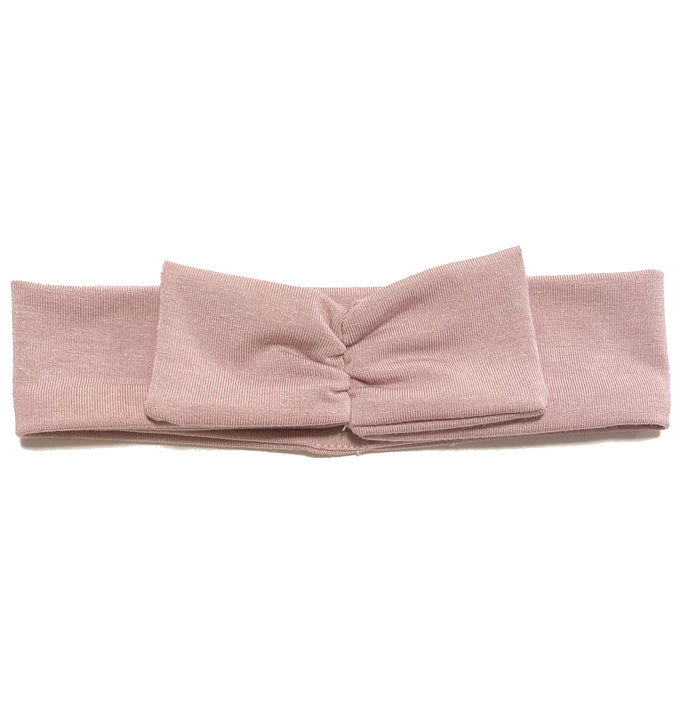 Mini Bow Headwrap // Blush - KNOT Hairbands