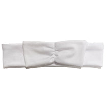 Load image into Gallery viewer, Mini Bow Headwrap // White - KNOT Hairbands