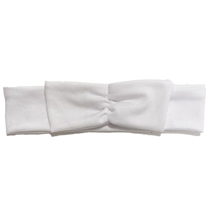 Mini Bow Headwrap // White - KNOT Hairbands