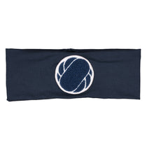 Load image into Gallery viewer, Patch Headwrap // Navy - KNOT Hairbands