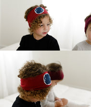 Load image into Gallery viewer, Patch Headwrap // Burgundy - KNOT Hairbands