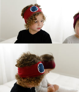 Patch Headwrap // Burgundy - KNOT Hairbands