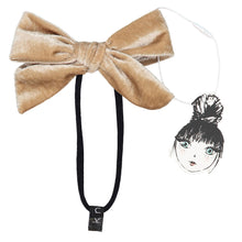 Load image into Gallery viewer, PORTRAIT VELVET BOW BAND - KNOT Hairbands