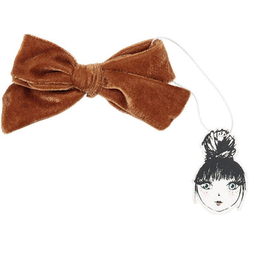 PORTRAIT VELVET BOW CLIP - KNOT Hairbands