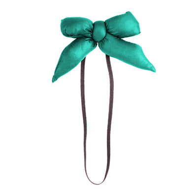 PUFFER Baby Band // Teal - KNOT Hairbands