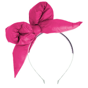 PUFFER Headband // HOT Pink - KNOT Hairbands
