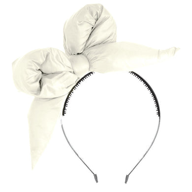 PUFFER Headband // White - KNOT Hairbands